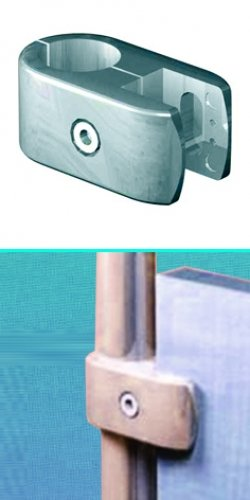 Universal joint for panels, glass shelf, grid