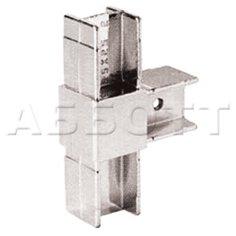 Соединитель для 3-х квадратных труб плоский 25х25мм