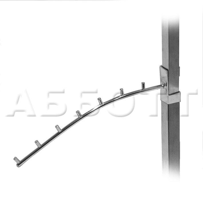 Кронштейн изогнутый с 7-ю штырьками на вертикальную трубу