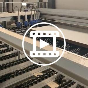 Автоматическая угловая форматно-обрезная линия Holzma