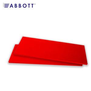 Полки ЛДСП красного цвета в наличии